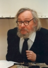 Jerzy Grotowski at a press conference in the Grotowski Centre, 1997. Phot. M. Culynski